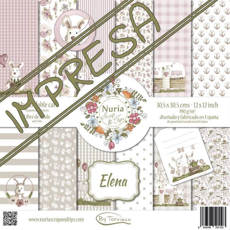 """Colección """"Elena"""" papeles scrapbook"""