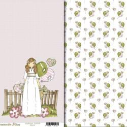 """Vellum """"Comunión Niñas"""" papel vegetal scrapbook"""