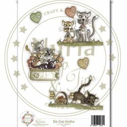 "Die Cuts ""Gatitos"" papeles scrapbook"