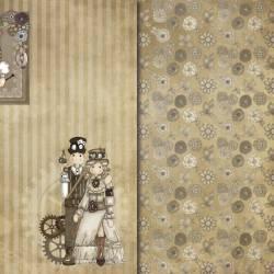 Colección Steampunk papeles scrapbooking