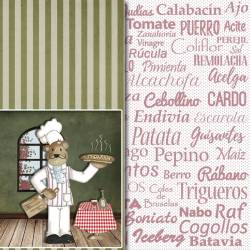 Colección Cocina papeles scrapbooking