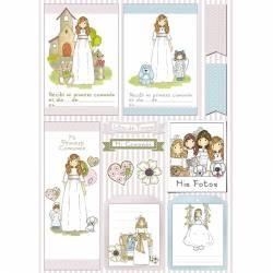 papeles scrapbooking comunión niñas