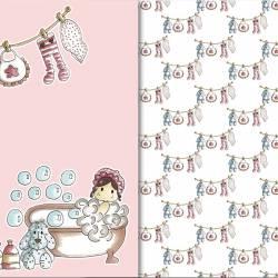 Papeles scrapbooking bebés niñas